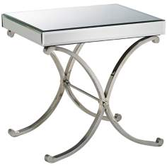 Round Vogue Mirror Accent Table