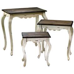 Set of 3 Blanchard Wood Nesting Tables