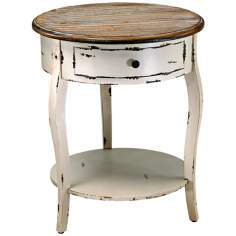 Abelard Wood Round Accent Table
