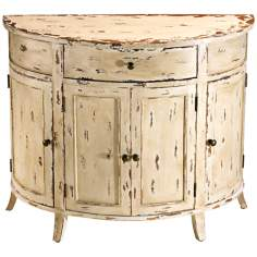 Distressed Gable Demi Lune Chest