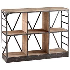 Transitional 6-Shelf Newberg Storage Console