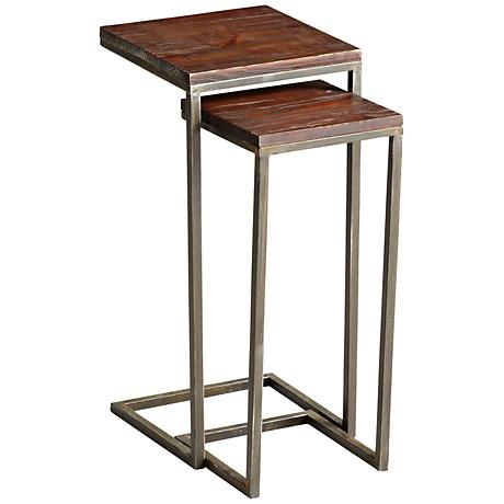 Set of 2 Small Square Kirby Nesting Tables