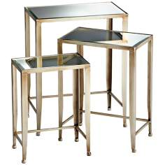 Set of 3 Harrow Bronze Nesting Tables