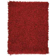 Silky Shag AMB0652 Crimson Red Area Rug