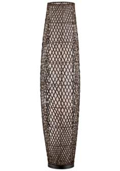 Lite Source Reaves Rattan and Metal 2-Light Floor Lamp