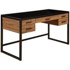 Eldridge Black and Tawny Meadow Computer Desk