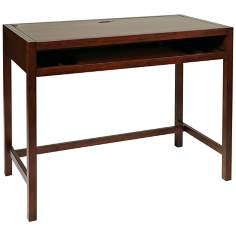 Hampton Storage Espresso Computer Desk