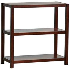 Hampton 3-Shelf Espresso Bookcase