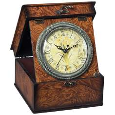 Daffodil Brown Box Display Clock