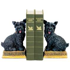Set of 2 Baron Black and Yellow Bookends