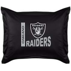 NFL Oakland Raiders Locker Room Pillow Sham