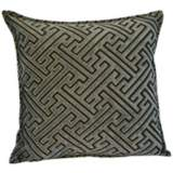 "Crazen Black Grey 20"" Square Down Throw Pillow"