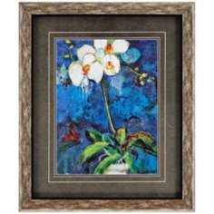 "Phalaenopsis Orchid I 37"" High Framed Wall Art"