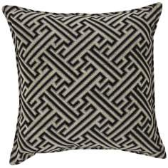 "Crazen Black White 20"" Square Down Throw Pillow"