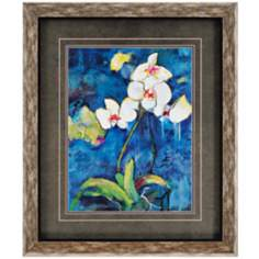"Phalaenopsis Orchid II 37"" High Framed Wall Art"