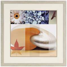 "Myriad I 33"" Square Framed Contemporary Wall Art"
