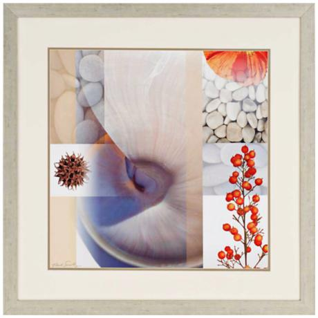 "Myriad III 33"" Square Framed Contemporary Wall Art"