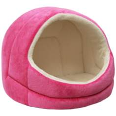 Fuchsia Micro-Suede Pet Bed Hut