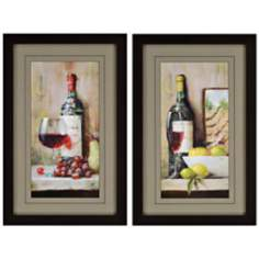 Set of 2 Vintage Wine Wall Art