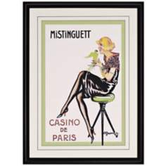 "Casino de Paris 1922 Framed 39"" High Glamour Wall Art"