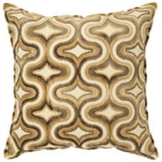 "Hampshire Gold 18"" Square Down Throw Pillow"