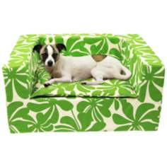 "Luxury Green Floral 31"" Wide Large Sofa Pet Bed"