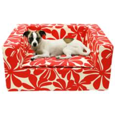 "Luxury Red Floral 31"" Wide Large Sofa Pet Bed"