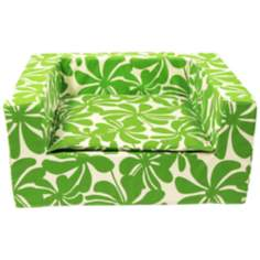 "Luxury Green Floral 27"" Wide Medium Sofa Pet Bed"