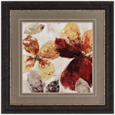 "Paloma II 38"" Square Framed Floral Wall Art"