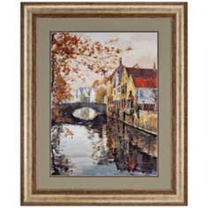 "Brugge Reflections 43"" High Framed Wall Art"