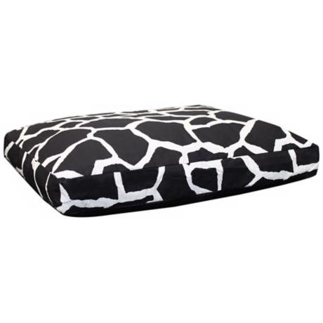 "Giraffe 36"" Wide Medium Black Pet Bed"