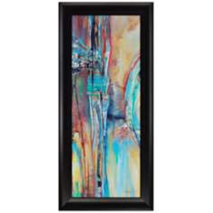 "Dawn Color I 54"" High Framed Abstract Wall Art"