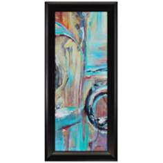 "Dawn Color II 54"" High Framed Abstract Wall Art"