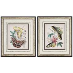 Set of 2 Fanciful Flight Butterfly Wall Art Prints