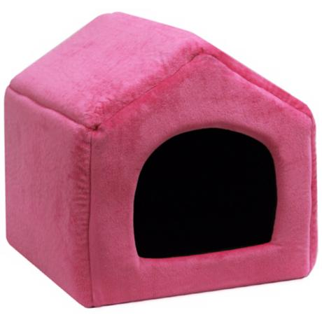 "Fuchsia Micro-Suede 16"" Wide Medium Pet House"