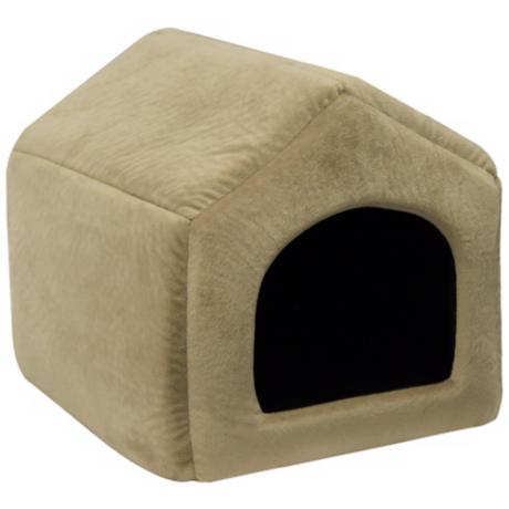 "Wheat Micro-Suede 16"" Wide Medium Pet House"