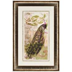 "Rustic Peacock I 45"" High Framed Wall Art"