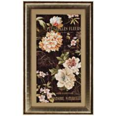 "Fleurs Antique II 50"" High French Floral Wall Art"
