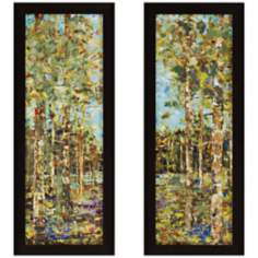 "Set of 2 Abundance 39"" High Contemporary Landscape Wall Art"