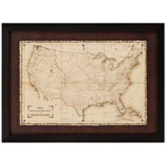 "American Posts/Forts 1861 39"" Wide Framed Wall Art"