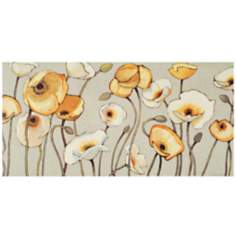 "Jaune Gris I 39"" Wide Floral Canvas Wall Art"