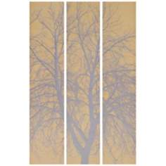 "Set of 3 Shadow Tree 59"" High Tryptic Canvas Wall Art"