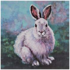 "Bunny Fun 36"" Square Giclee Canvas Wall Art"