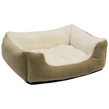 "Wheat 30"" Wide Rectangular Bumper Large Pet Bed"