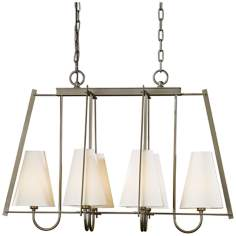 "Hubbardton Forge Crown Pointe 30"" Wide Dark Smoke Chandelier"