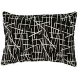 "Black Stix 20"" Wide Down Throw Pillow"