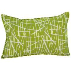 "Green Stix 20"" Wide Down Throw Pillow"