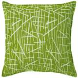 "Green Stix 20"" Square Down Throw Pillow"