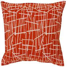 "Orange Stix 20"" Square Down Throw Pillow"