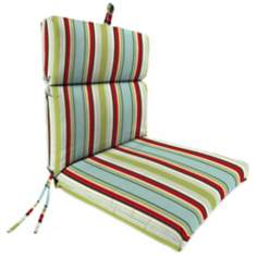"Kiwi Red Blue French Edge 21"" Outdoor Chair Cushion"